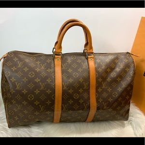 100% Authen Louis Vuitton 1982 Vintage Keepall 50
